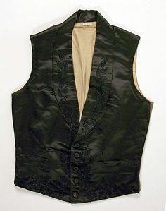 (c. 1846) American/European vest made of silk.
