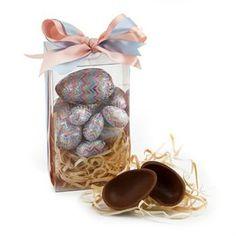 Ovinhos de chocolate belga da Bake a Wish numa caixa de acetato, transformam este presente de páscoa na melhor opção! FOUND IT! – presentes especiais para todas as ocasiões