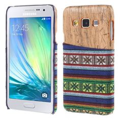 Javu - Samsung Galaxy A3 Hoesje - Back Case Hard Tribal Canvas en Houtprint Groen   Shop4Hoesjes
