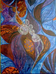 ARTES, DESARTES E DESASTRES CONTEMPORÂNEOS.   Nova botânica Técnica mista  (acrílica, nanquim e hidrográfica) sobre papel 0,60 x 0,44
