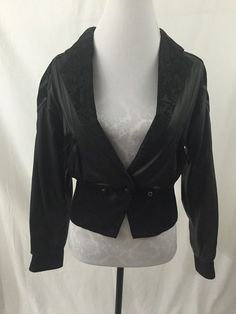 GIII Global Identity Vtg Black Leather Suede Cropped Jacket Size s Lined Fitted | eBay