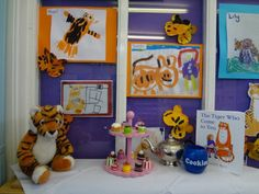 The Tiger Who Came to Tea Eyfs Activities, Nursery Activities, Party Activities, Reading Themes, Book Themes, School Fun, Pre School, Early Years Teacher, Story Sack