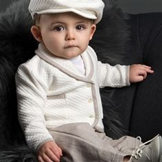Baby Boy Jacket - Braden Christening/Baptism Collection - Fancy Gowns & Jackets