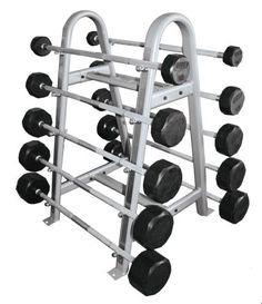 Troy® Rubber-Coated Fixed Barbells