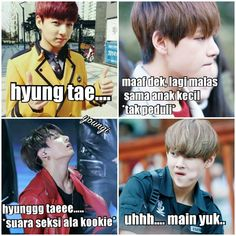 Foto Meme, Bts Memes Hilarious, Cartoon Jokes, Bts Korea, Boyxboy, Read News, Taekook, Baekhyun, Boy Bands