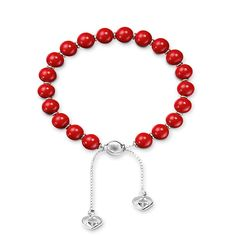 Gucci St Valentino Sterling Silver And Red Boule Bracelet YBA286673001017 From Berrys Jewellers