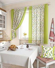Комплект штор «Кулидж» зеленого цвета