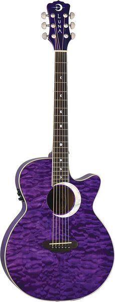 Luna Guitars - Fauna Eclipse acou/elec - trans purple