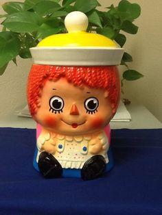 Vintage  Raggady Ann Cookie Jar made in Japan 1950's