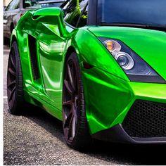 Close up of a metallic green....??