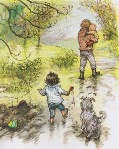 Out and About: A First Book of Poems, written and illustrated by Shirley Hughes