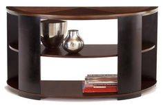 Contrasts Modern Cherry Black Sofa/Console Table