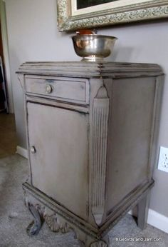 black and grey distressed furniture | Grey Distressed Furniture | Painted Furniture / painted gray ...