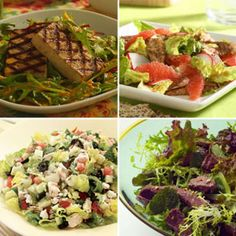 500-Calorie Dinner Salad Menus -- We picked delicious healthy recipes and paired them together all you have to do is go shopping! @EatingWell