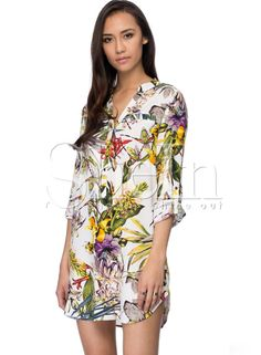 Shop White Long Sleeve Floral Print Dress online. SheIn offers White Long Sleeve Floral Print Dress & more to fit your fashionable needs.