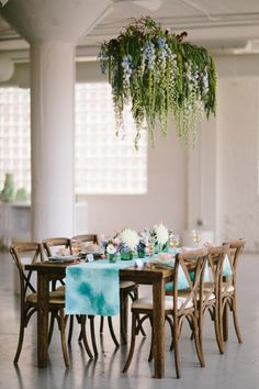 Watercolor inspired wedding table: http://www.stylemepretty.com/illinois-weddings/chicago/2014/10/22/monets-water-lily-bridal-inspiration/ | Photography: Katie Kett - http://www.katiekettphotography.com/