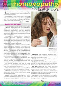 Headaches and Stress by Owen Homoeopathics via slideshare