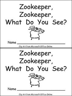 Emergent reader with a zoo theme for end-of-the-year fun!!