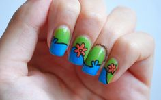 The Mystery Machine, Scooby Doo nail art / Nails by Wicked Fullmoon