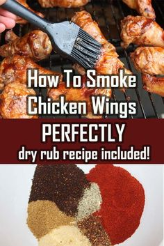 Rub Smoked Chicken Wings The Secret To Smoking Chicken Wings Perfectly Every Time!The Secret To Smoking Chicken Wings Perfectly Every Time! Traeger Recipes, Smoked Meat Recipes, Grilling Recipes, Oven Recipes, Healthy Recipes, Easy Recipes, Venison Recipes, Sausage Recipes, Recipes Dinner