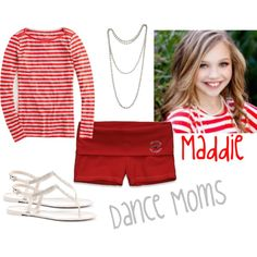 This is a casual look for Maddie from Dance Moms when she is relaxing and having fun with her friends! Dance Moms Costumes, Dance Moms Dancers, Dance Mums, Dance Moms Girls, Dance Outfits, Cool Outfits, Maddie Ziegler, Fashion Tv, Kids Fashion