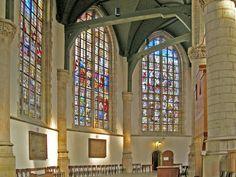 De beroemde 'Goudse Glazen' van de SInt Jans-kerk: prachtige gebrandschilderde ramen, deels uit de zestiende eeuw.