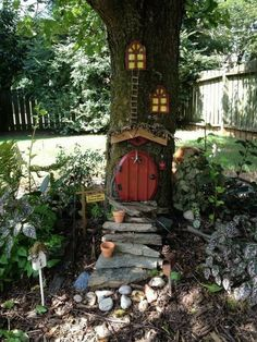 43 beautiful and easy fairy garden ideas for kids 40 > Fieltro.Net, ✔ 43 beautiful and easy fairy garden ideas for kids 40 > Fieltro.Net, ✔ 43 beautiful and easy fairy garden ideas for kids 40 > Fieltro. Fairy Tree Houses, Fairy Garden Houses, Gnome Garden, Garden Paths, Garden Art, Fairies Garden, Garden Types, Fairy Village, Flower Fairies