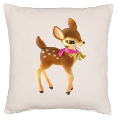 Vintage Toy Deer Cushion Cover by TheCushionUnion on Etsy, £19.00