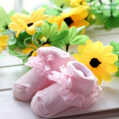 Baby Socks Toddlers Girls Combed Cotton Ankle Short Lace Bowknots Socks Anti-skid Newborn