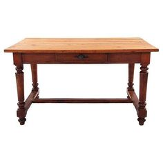 19th C. French Country Pine Table - $1,350 on Chairish.com