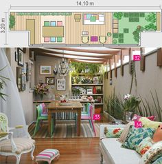 34 ideias para decorar varandas