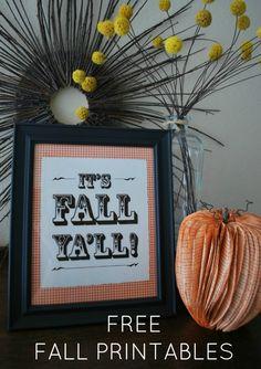 Free fall printable art