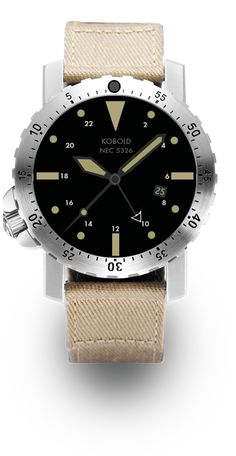 Kobold NEC 5326 - a world timer with an ETA quartz movement. Made exclusively for the U.S. Navy SEALs.