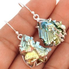 18g-Bismuth-Crystal-925-Sterling-Silver-Earrings-Jewelry-SE79299