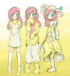 Fluttershy Human by AppleStems.deviantart.com on @deviantART