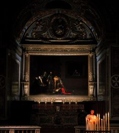Celebrated: Caravaggio was one of the most influential painters of his time. This picture shows his 'Beheading of St John the Baptist' hanging at St Paul's Pro-Cathedral in Malta