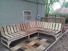 Patio Sectional Couch I Built Out Of Shipping Pallets