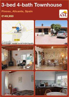 3-bed 4-bath Townhouse in Pinoso, Alicante, Spain ►€149,950 #PropertyForSaleInSpain
