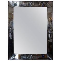 Antique Rectangular Venetian Glass Mirror | From a unique collection of antique and modern wall mirrors at https://www.1stdibs.com/furniture/mirrors/wall-mirrors/
