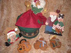 """LOT primitive country santa claus christmas gingerbread boy man decoration orniefor sale in my store The Chic N Prim cottage ebay have to put in the """"the """" in search engine $14 FREE Shipping when you spend $30 or more!"""