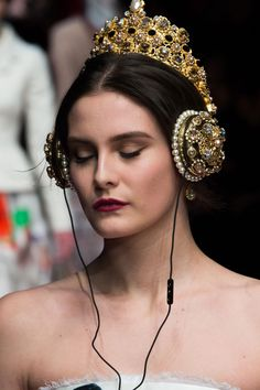 Best Headphones Ever! Dolce & Gabbana - Milan Fashion Week - Fall 2015 ~~ Houston Foodlovers Book Club