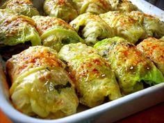 Stuffed Cabbage with Basil White Wine Cream Sauce - Proud Italian Cook