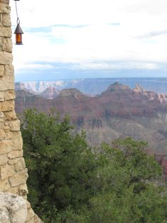 The Grand Canyon Lodge is built RIGHT on the edge of one of the cliffs.