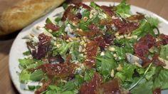 Billede af salat, parmaskinke og gorgonzola
