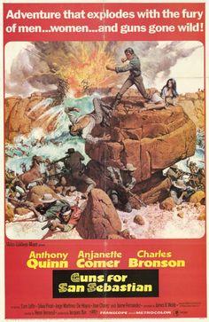 Guns for San Sebastian (1968)Stars: Anthony Quinn, Anjanette Comer, Charles Bronson,  Sam Jaffe, Silvia Pinal ~  Director: Henri Verneuil