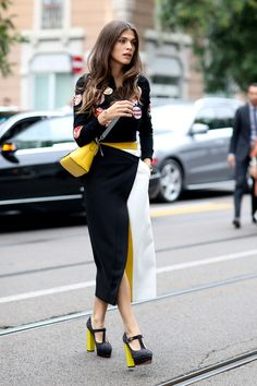 Milan Fashion Week S / S 2015: street style.  Part II (7 photos)