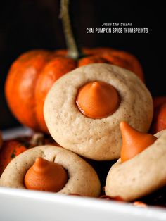 What better treat to go with your pumpkin spice latte....then chai pumpkin spice thumbprints. What better way to complete a blood donation with these cookies and a latte drink!