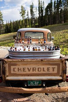 Everyone should have a beer station like this at their wedding!