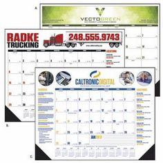 Triumph� Multi-Color Desk Pad Calendar #deskpadcalendar #pharmacy #office #construction #calendar #trucking