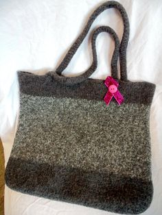 Felted Tote Bag by NicolesHopeChest on Etsy